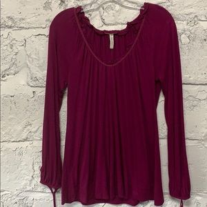 NWT Old Navy Purple Maternity Blouse